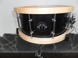 "SD Zebrano Black Satin  14""/6,5"" Maple Woodhoops"