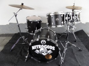 "Drumset Buche Black and Beauty 20""/10""/12""/14"" Für Klaus Sperling"
